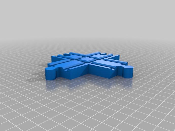 玩具火车十字接头模型