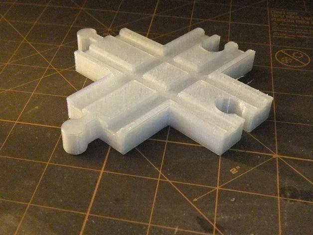 玩具火车十字接头模型 3D打印模型渲染图