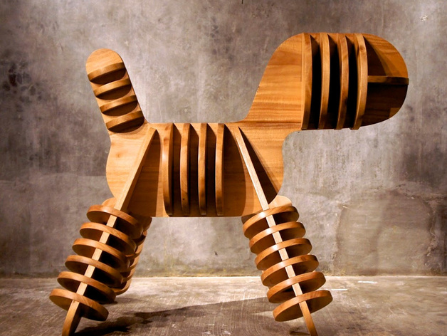 迷你小狗椅模型