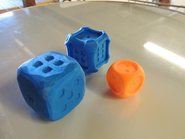 风格各异的六面体骰子模型 3D打印模型渲染图