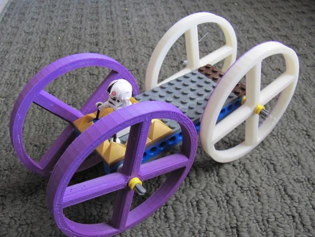 乐高玩偶车轮模型