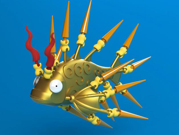 Ogo迷你金鱼模型