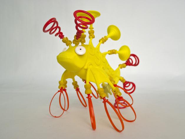 Ogo迷你金鱼模型 3D打印模型渲染图