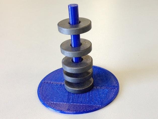 圆形磁铁标杆模型 3D打印模型渲染图
