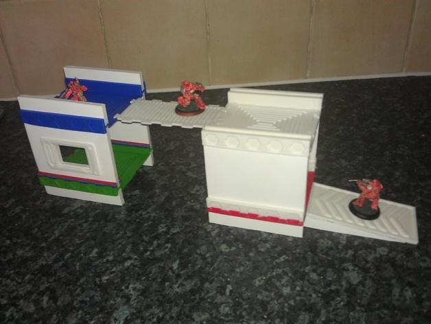 战争游戏基地模型V2 3D打印模型渲染图