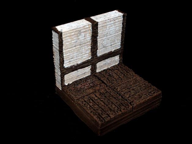 OpenForge都铎王朝墙砖模型 3D打印模型渲染图
