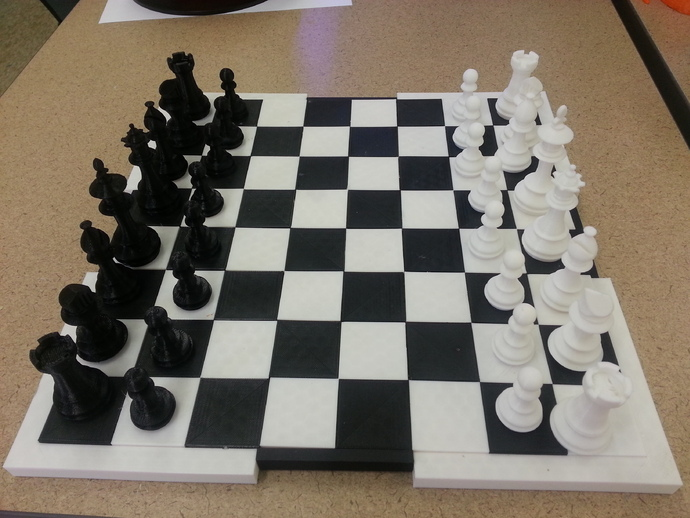 MakerLab象棋套件 3D打印模型渲染图