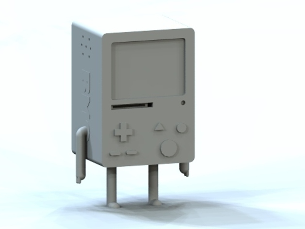 探险活宝BMO机器人模型 3D打印模型渲染图