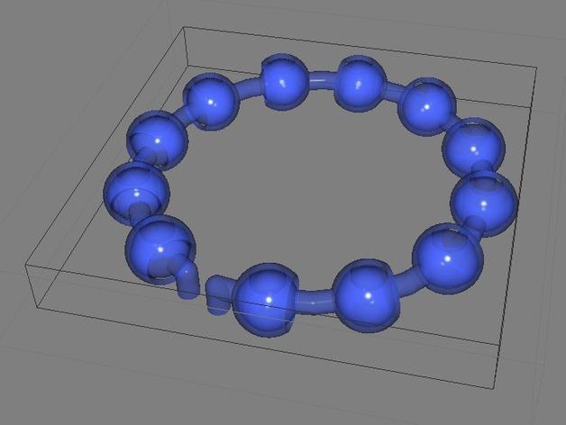 迷你球形链模型