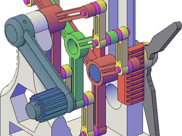 施密特偏心联轴器模型