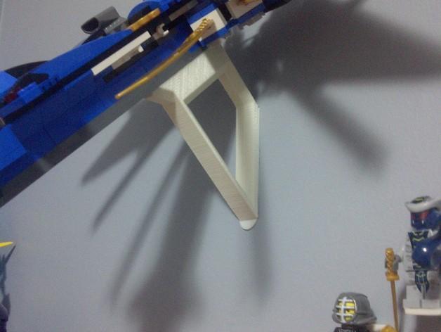 乐高玩具船墙角固定架模型