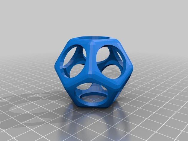 十二面体镂空立方体模型