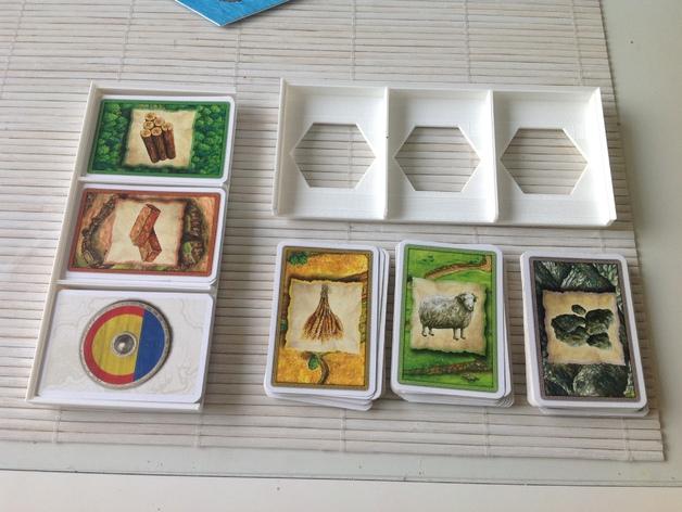 卡坦岛游戏卡盒模型 3D打印模型渲染图
