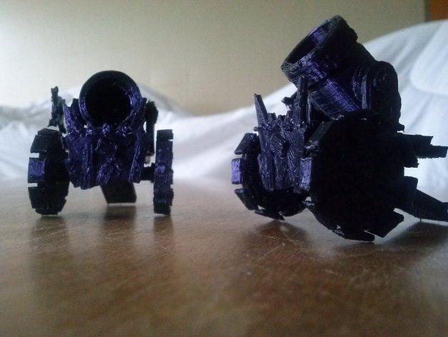 Goblin迫击炮模型 3D打印模型渲染图