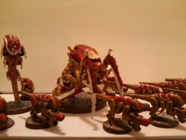 战锤40K:泰伦虫族侩子手 3D打印模型渲染图