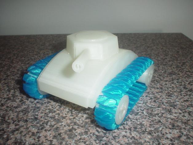 stretchlet坦克模型 3D打印模型渲染图