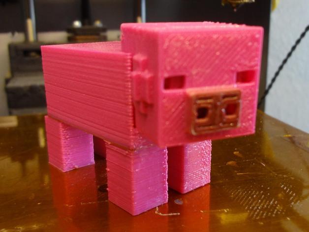 Minecraft:迷你成年猪 3D打印模型渲染图