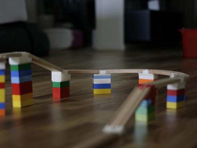 玩具火车桥梁支座模型 3D打印模型渲染图