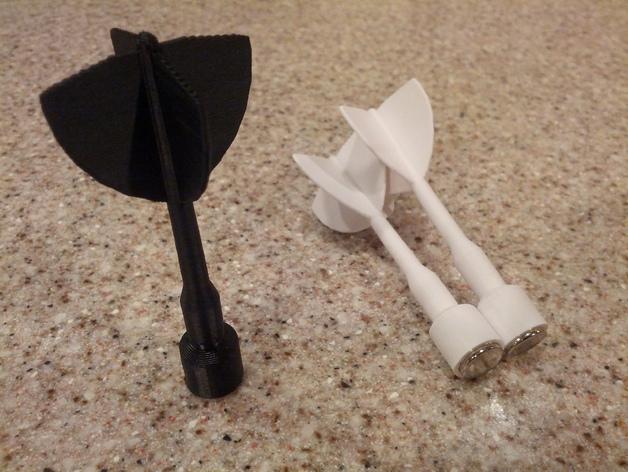 磁力飞镖模型 3D打印模型渲染图