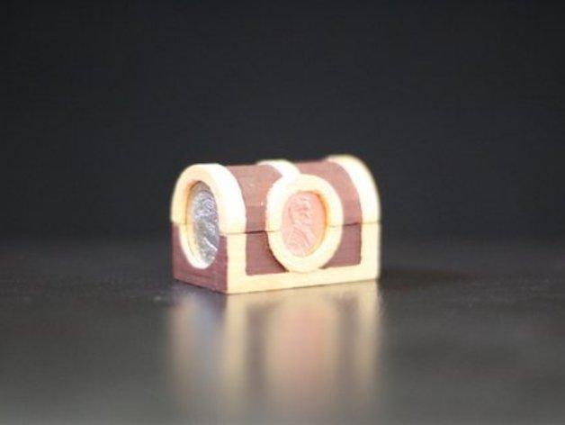 迷你藏宝箱模型 3D打印模型渲染图