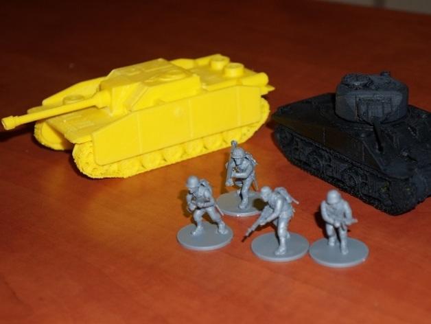 坦克:Stug自行突击炮 3D打印模型渲染图