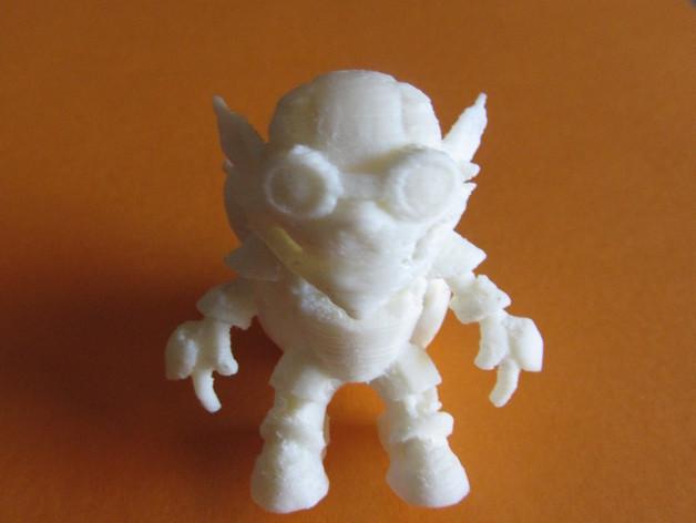 英雄联盟:玩炸弹的约德尔人Ziggs 3D打印模型渲染图
