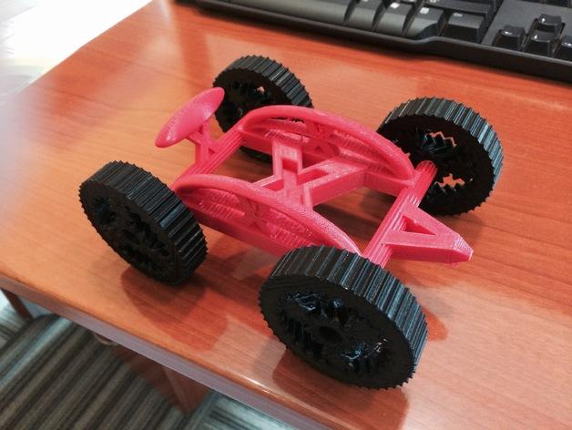 艾瑞欧原子玩具赛车 3D打印模型渲染图