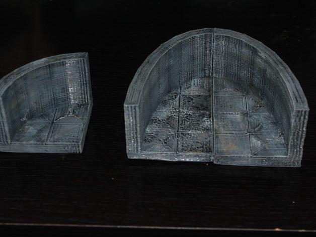 OpenForge弧形墙壁模型 3D打印模型渲染图