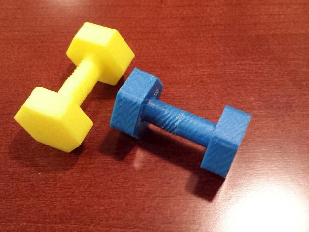 迷你哑铃模型 3D打印模型渲染图