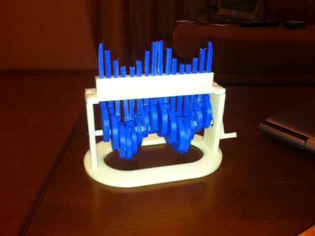 机械化sinus发动机模型 3D打印模型渲染图