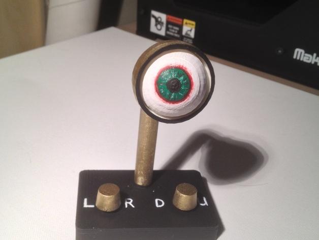 手动控制眼球怪 3D打印模型渲染图