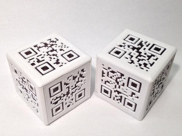 二维码骰子模型 3D打印模型渲染图
