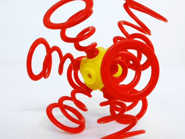 Ogo弹簧模型 3D打印模型渲染图