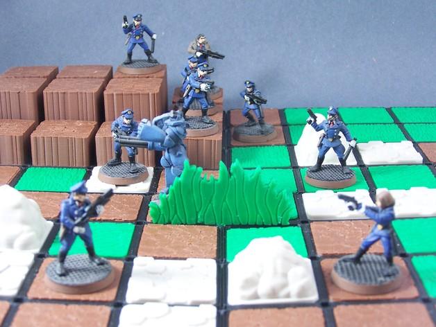模块化的游戏基地模型