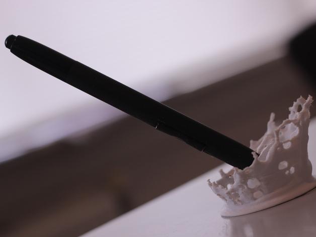 水花形状的笔架