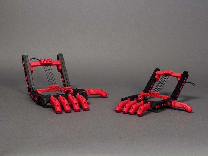 机械手 3D打印模型渲染图