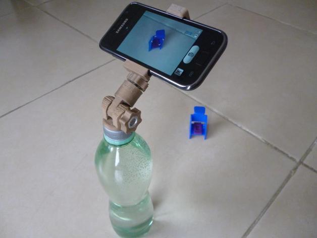 通用瓶盖三脚架 3D打印模型渲染图
