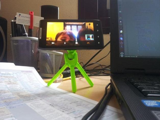 手机三脚架 3D打印模型渲染图