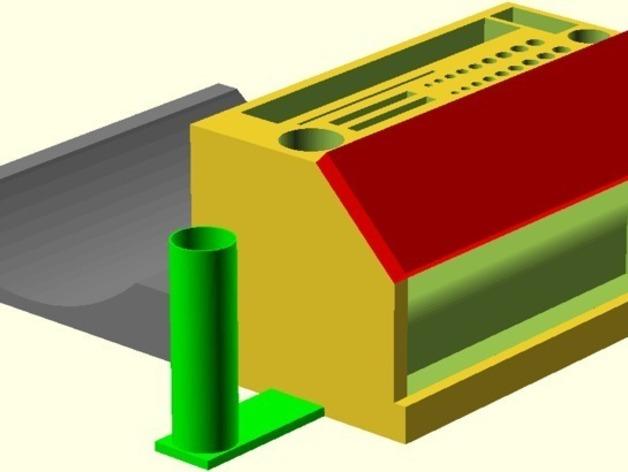 彩虹色工作台 3D打印模型渲染图