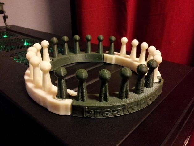 织布机 3D打印模型渲染图