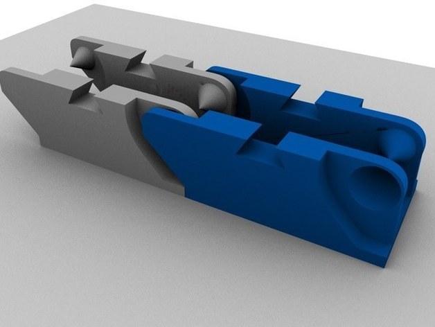 牵引链 3D打印模型渲染图