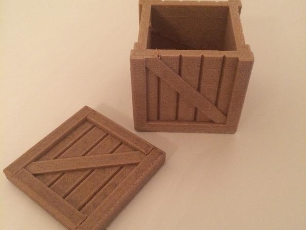 有盖子的小板条箱