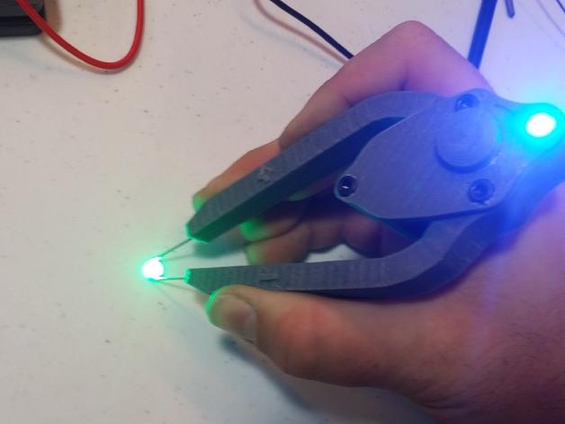 LED灯测试钳 3D打印模型渲染图