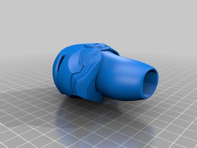 钢铁侠手柄 3D打印模型渲染图