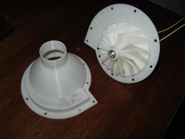 12v直流电动涡轮电机 3D打印模型渲染图