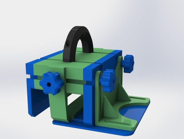 滚动台锯推进器 3D打印模型渲染图