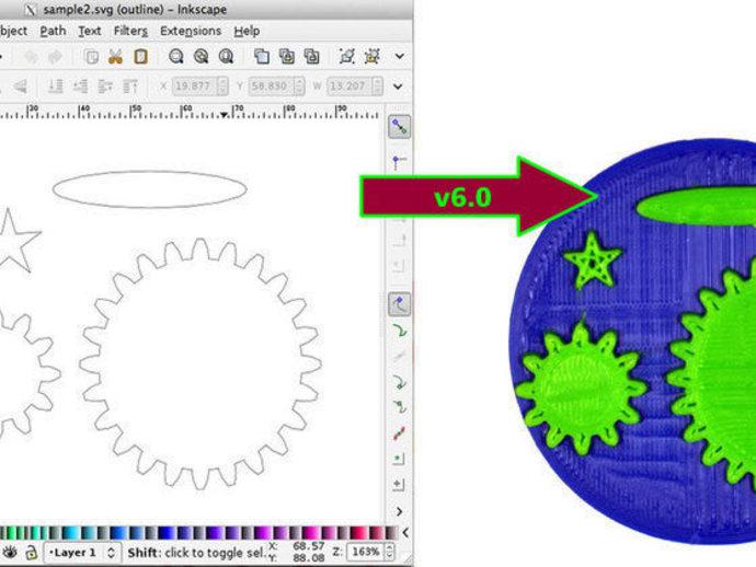 OpenSCAD转换器v6  3D打印模型渲染图