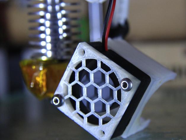 定制化风扇罩/过滤罩 3D打印模型渲染图