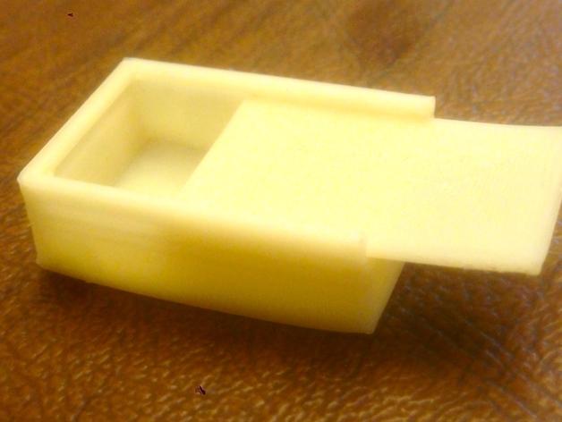 参数化滑动小盒 3D打印模型渲染图