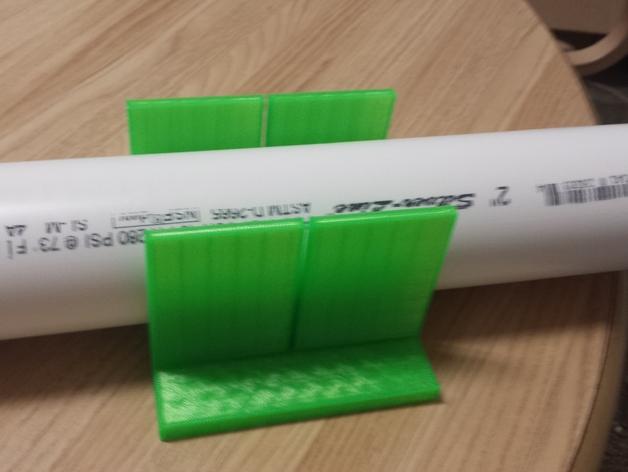 PVC管切削夹具 3D打印模型渲染图